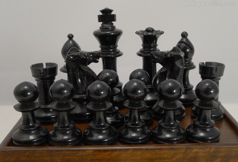 Antiques atlas antique boxwood staunton chess set - Collectible chess sets ...