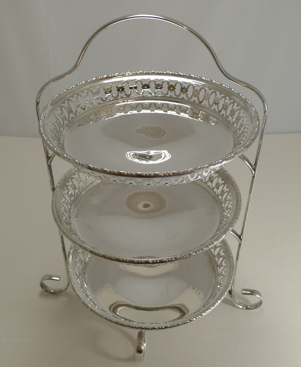 Antiques Atlas Antique English Cake Stand In Silver