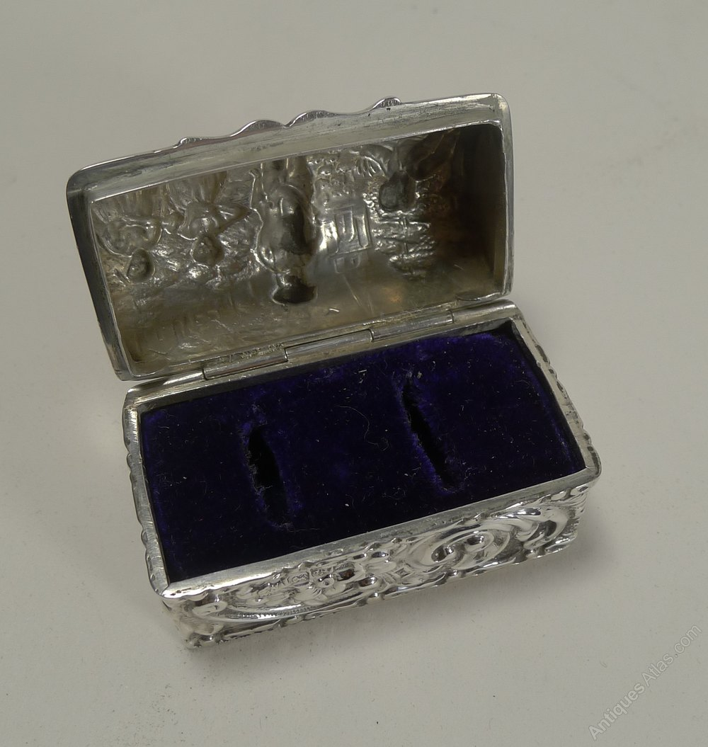 antiques atlas antique silver ring box for two rings