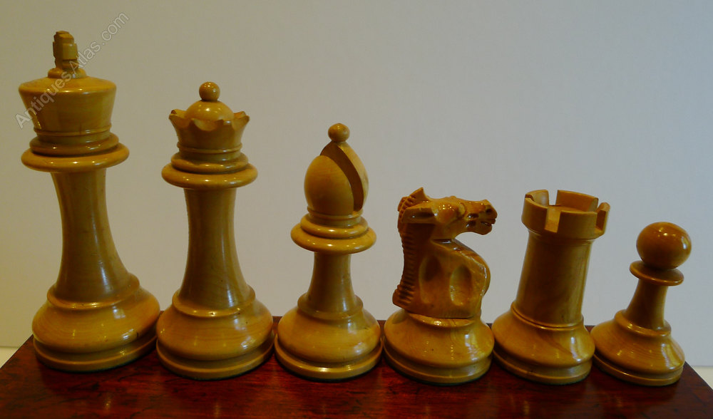 Antiques atlas antique english weighted boxwood chess set - Collectible chess sets ...
