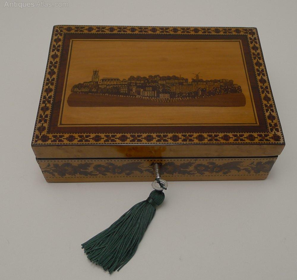 Most Sought After Antiques: Burr Maple & Tunbridge Ware Box