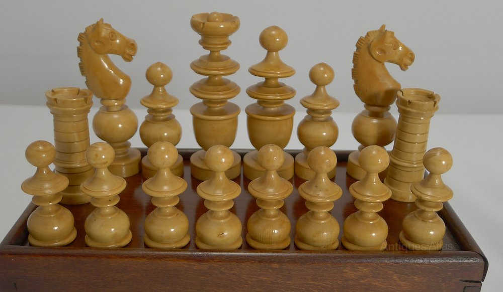 Antiques Atlas Carved Regency Style Chess Set In Boxwood