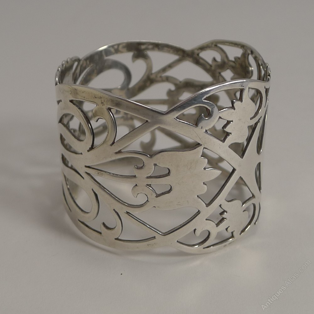 antiques atlas pair antique silver napkin rings