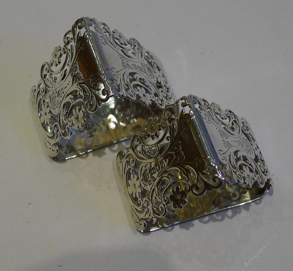 Sterling Napkin Rings Antique