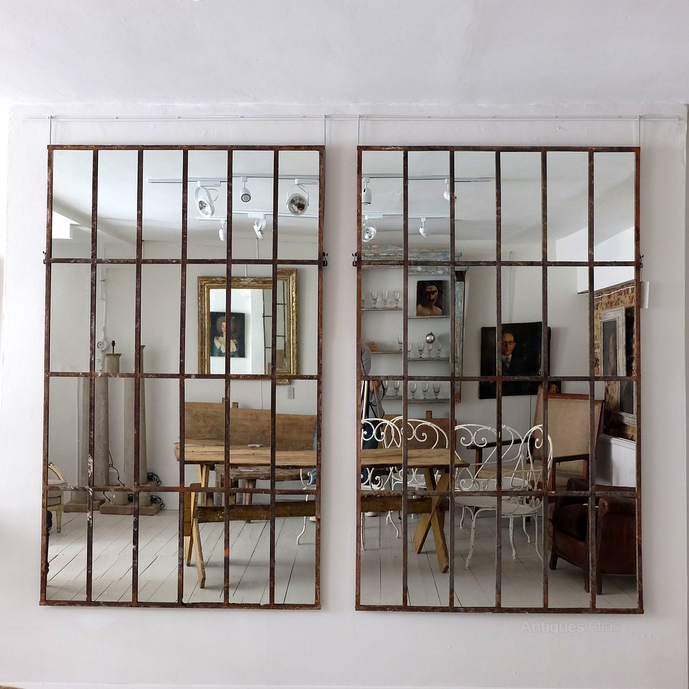 Industrial mirrors perfect shop wayfair for birch lane for Industrial windows for homes