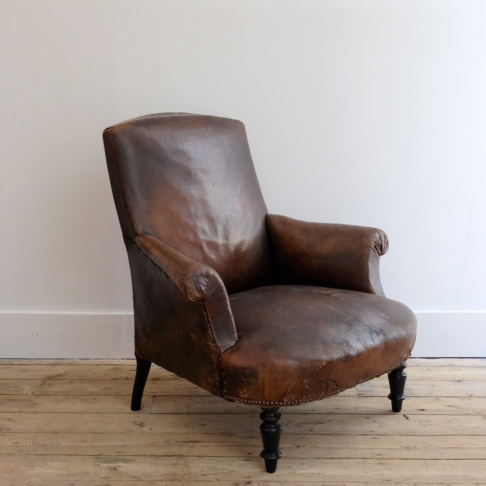 french leather reading chair antiques atlas
