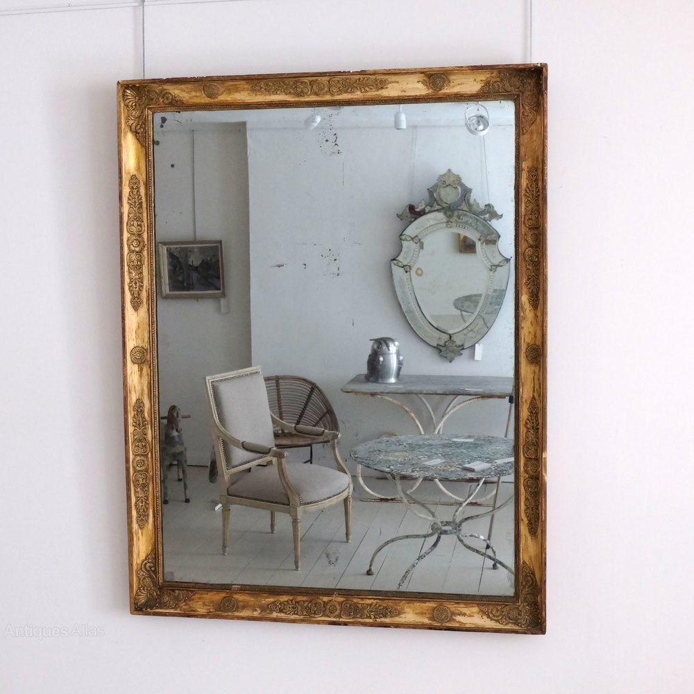 Antiques atlas large antique decorative mirror for Large accent mirrors