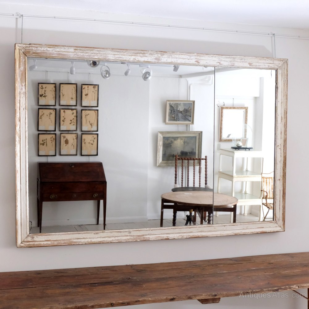 Antiques atlas large french antique mirror for Large white mirrors for sale