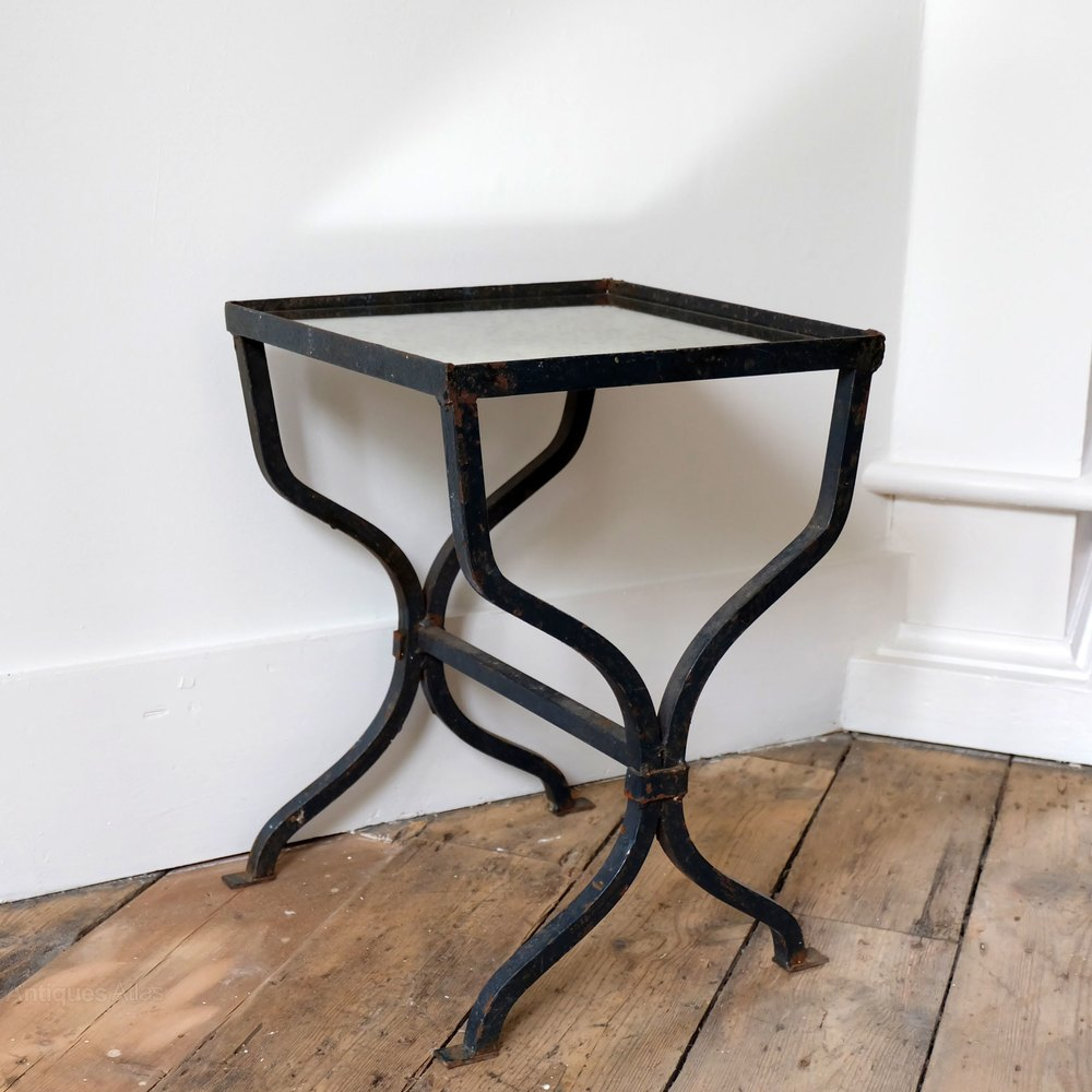 Petite cast iron side table antiques atlas for Cast iron end table