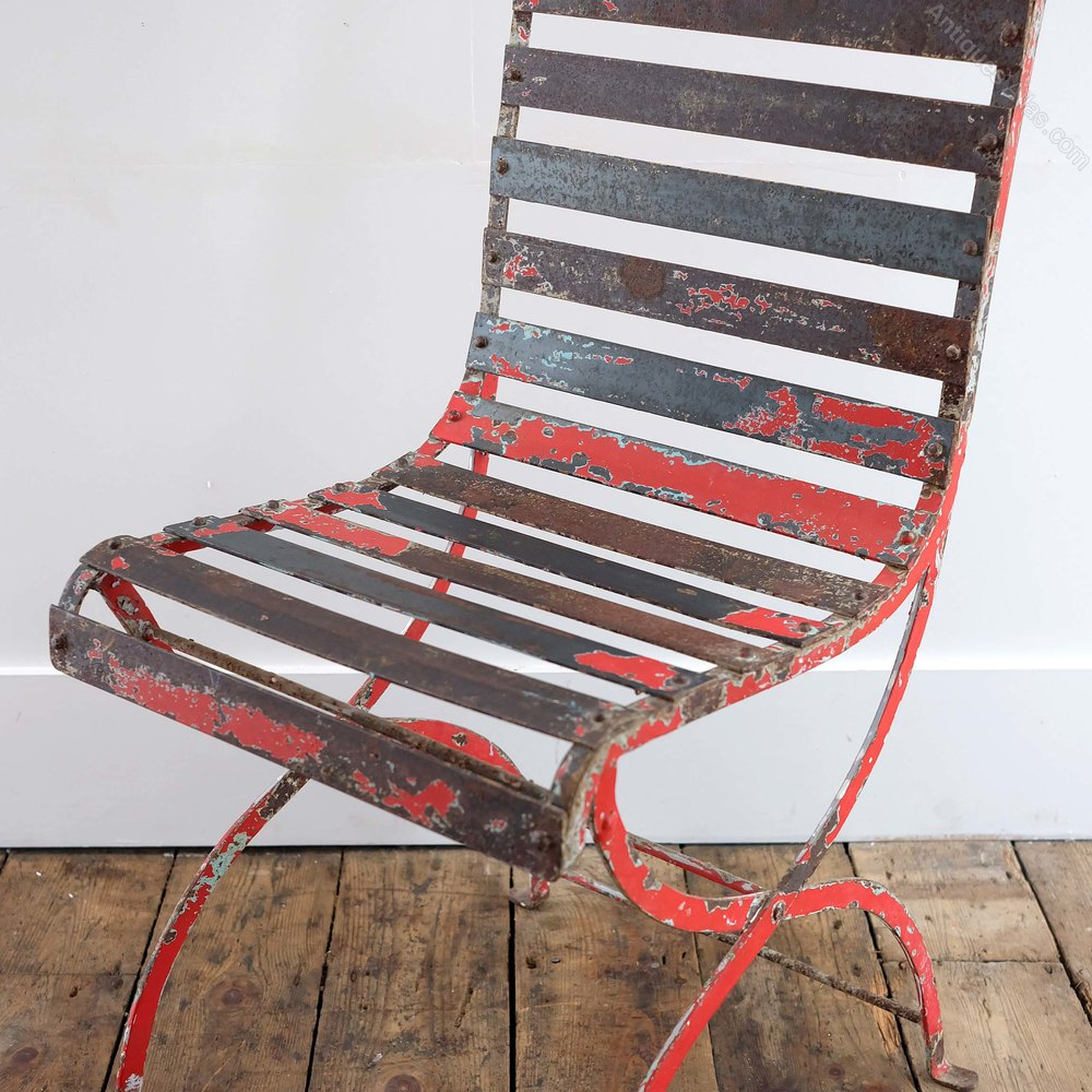 Antiques Atlas Red Outdoor Chair