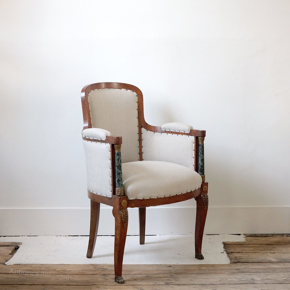 Unusual French Bergere Armchair - Antiques Atlas
