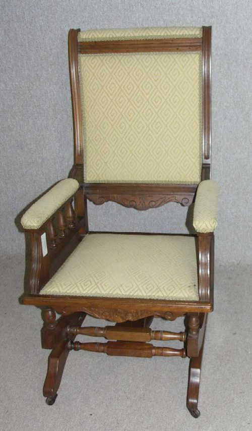 Antiques Atlas 1940s Walnut American Rocking Chair