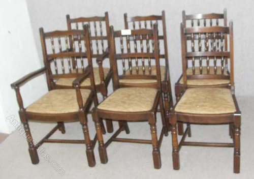 Oak Spindle Dining Chairs ~ Oak spindle back dining chairs antiques atlas