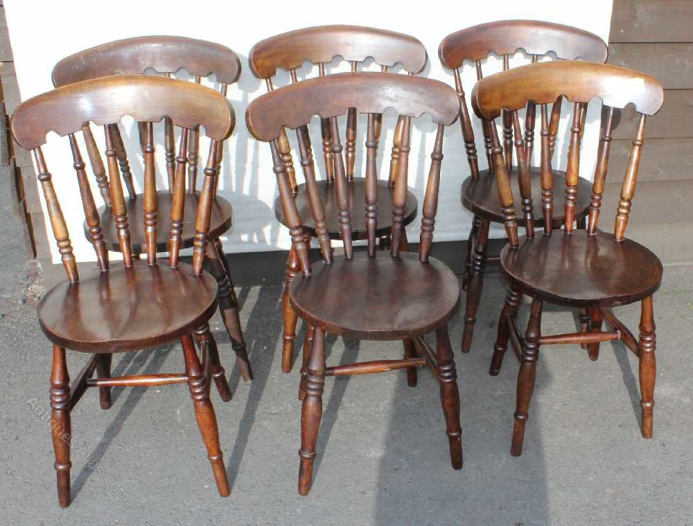 Antiques atlas 6 sturdy country beech dining chairs - Sturdy dining room chairs ...