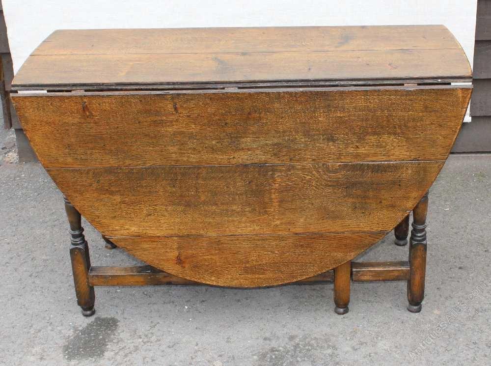 Antiques atlas large oak gate leg table with drawer - Gateleg table with drawers ...