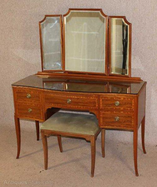 Antiques Atlas Mahogany Inlaid Dressing Table