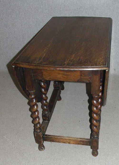 Antiques atlas oak gateleg dining occasional table for Gateleg dining table