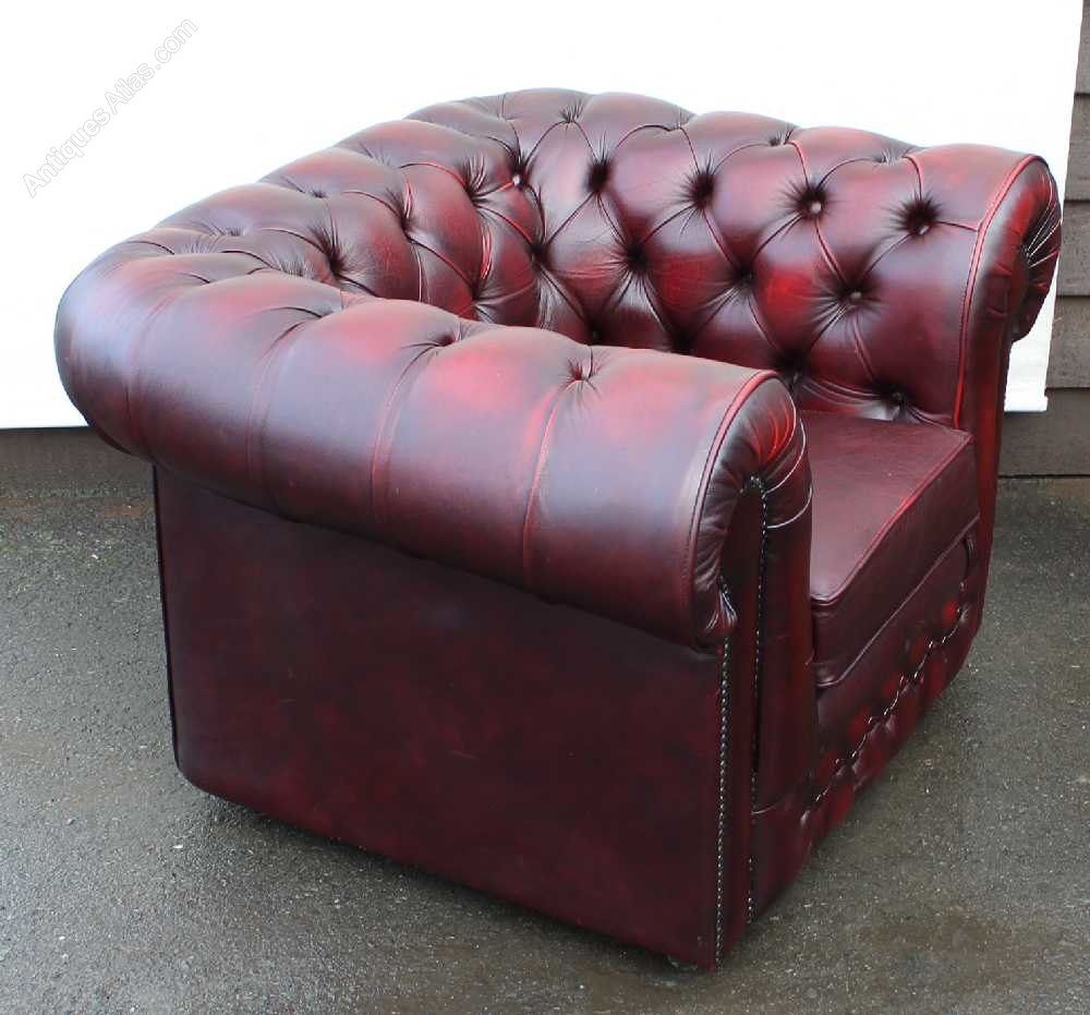 antiques atlas red leather chesterfield tub armchair. Black Bedroom Furniture Sets. Home Design Ideas