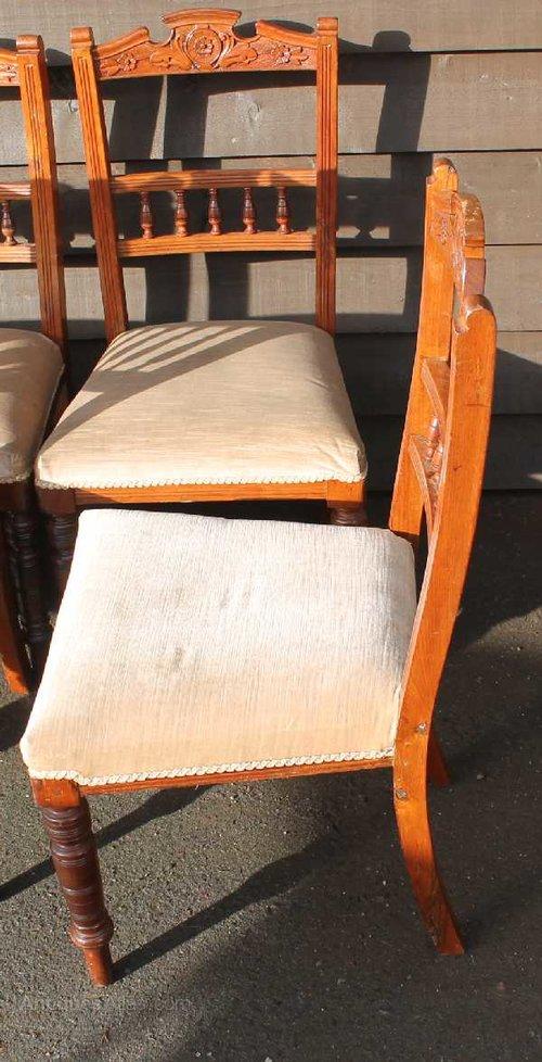 Set edwardian walnut dining chairs antiques atlas