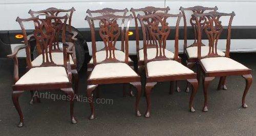 Set mahogany georgian style dining chairs antiques atlas