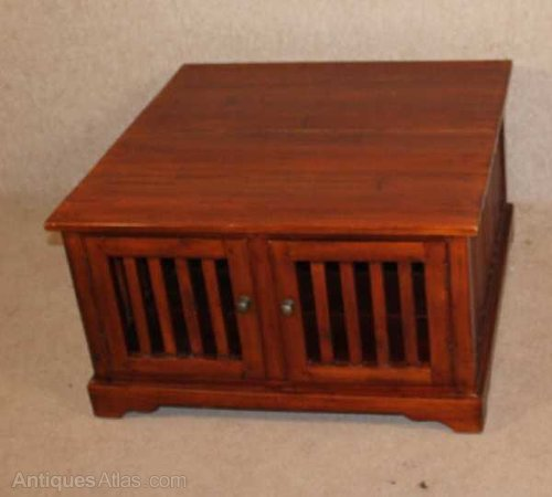 Antiques Atlas Solid Walnut Coffee Table With Storage