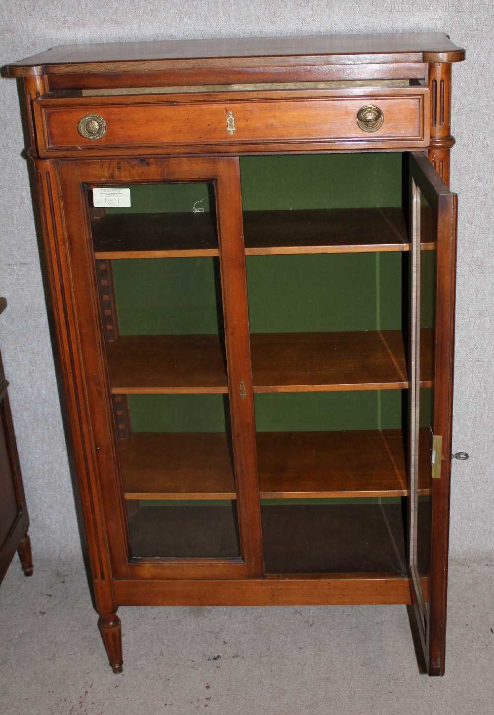 walnut louis xv style china cabinet bookcase antiques atlas