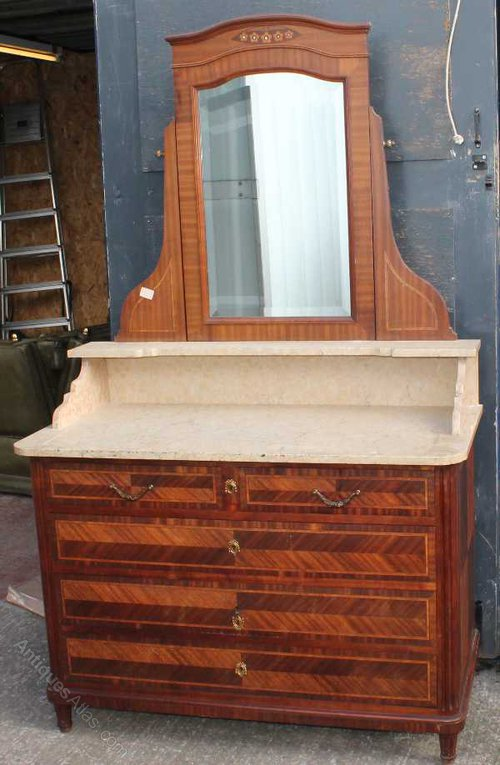 Red Marble Top : Walnut wash stand with red marble top antiques atlas