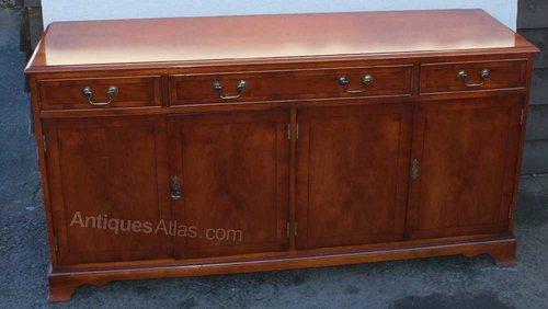 Antiques Atlas Yew Wood 4 Door 3 Drawer Sideboard