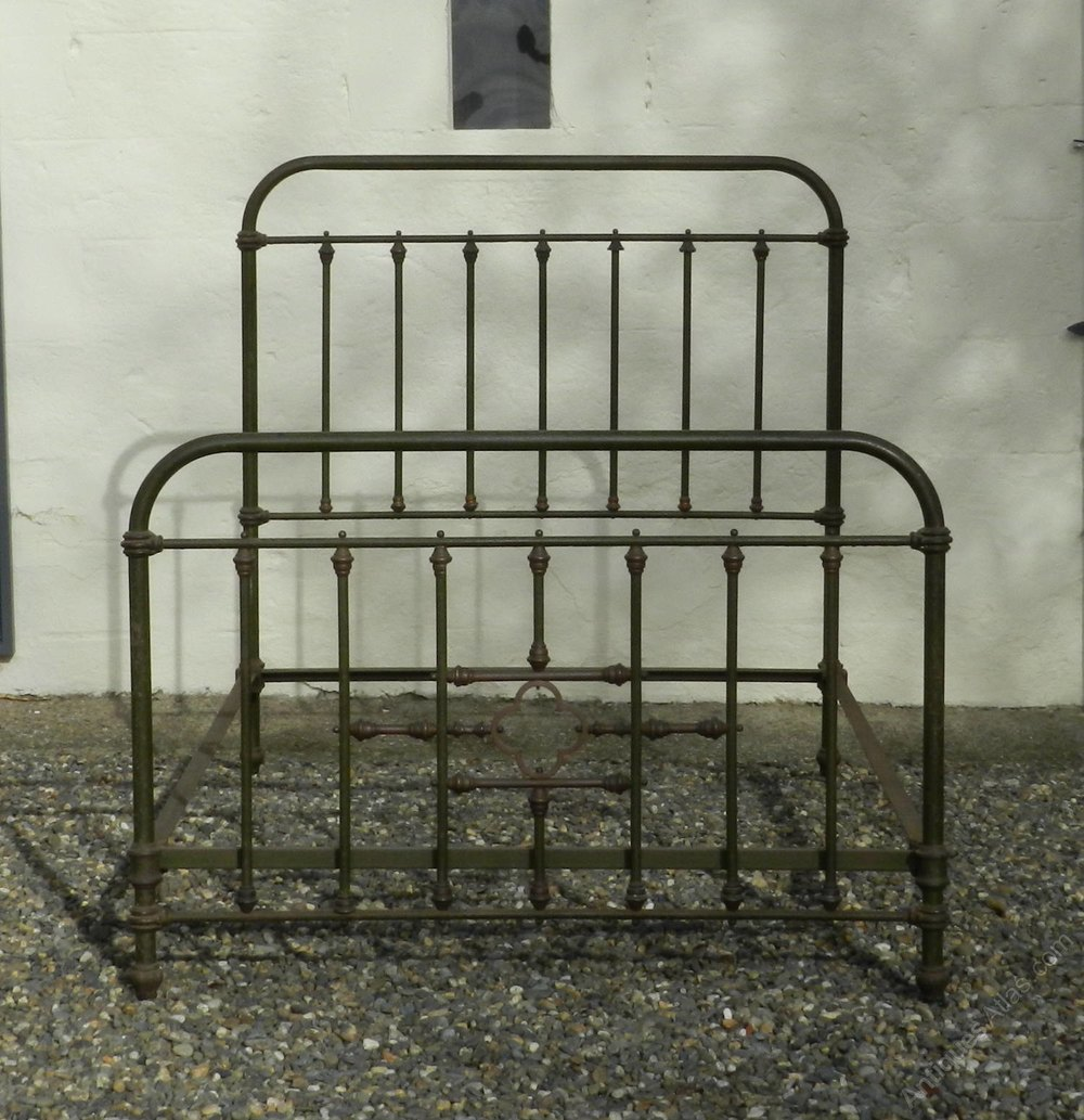 Antique french iron bed - Cast Iron Three Quarter French Bed Antique French Beds