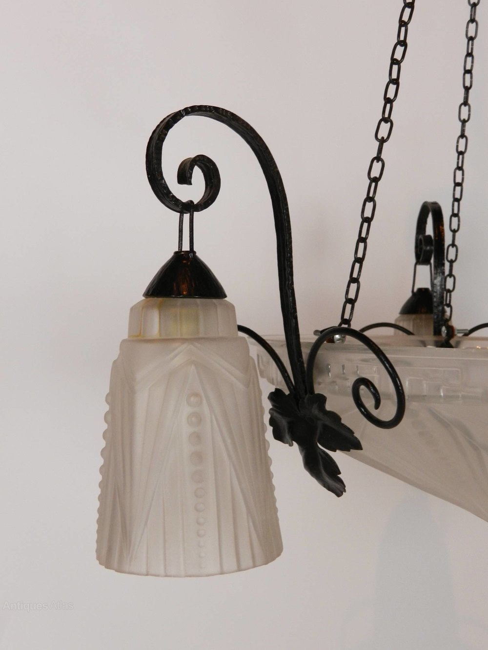 Antiques Atlas French Art Deco Chandelier With Three