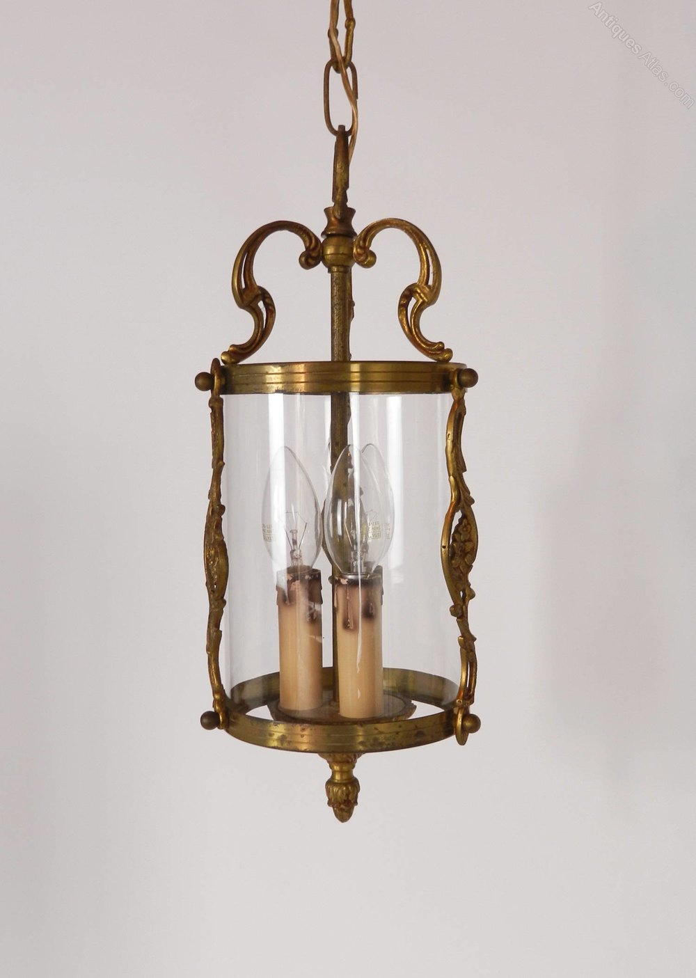 Antiques Atlas French Brass Triple Light Hall Lantern