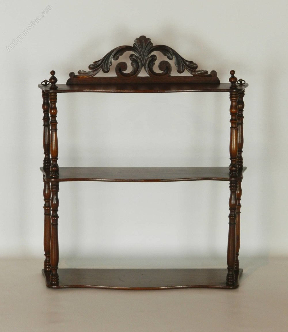 antique french mahogany etagere wall shelf antiques atlas. Black Bedroom Furniture Sets. Home Design Ideas