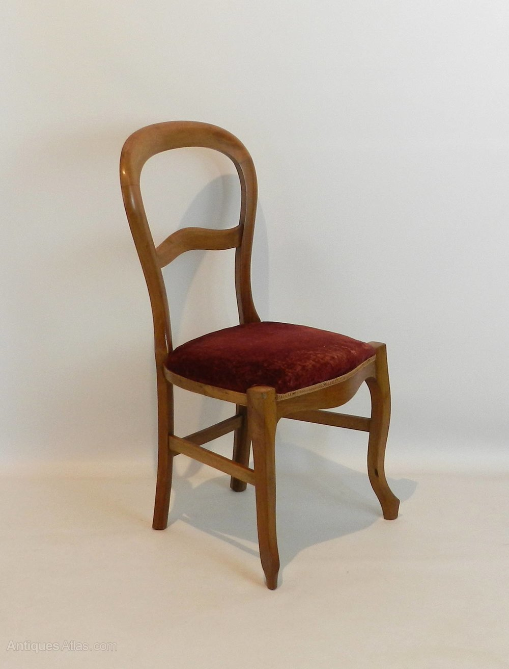 Set Of Four French Balloon Back Dining Chairs Antiques Atlas
