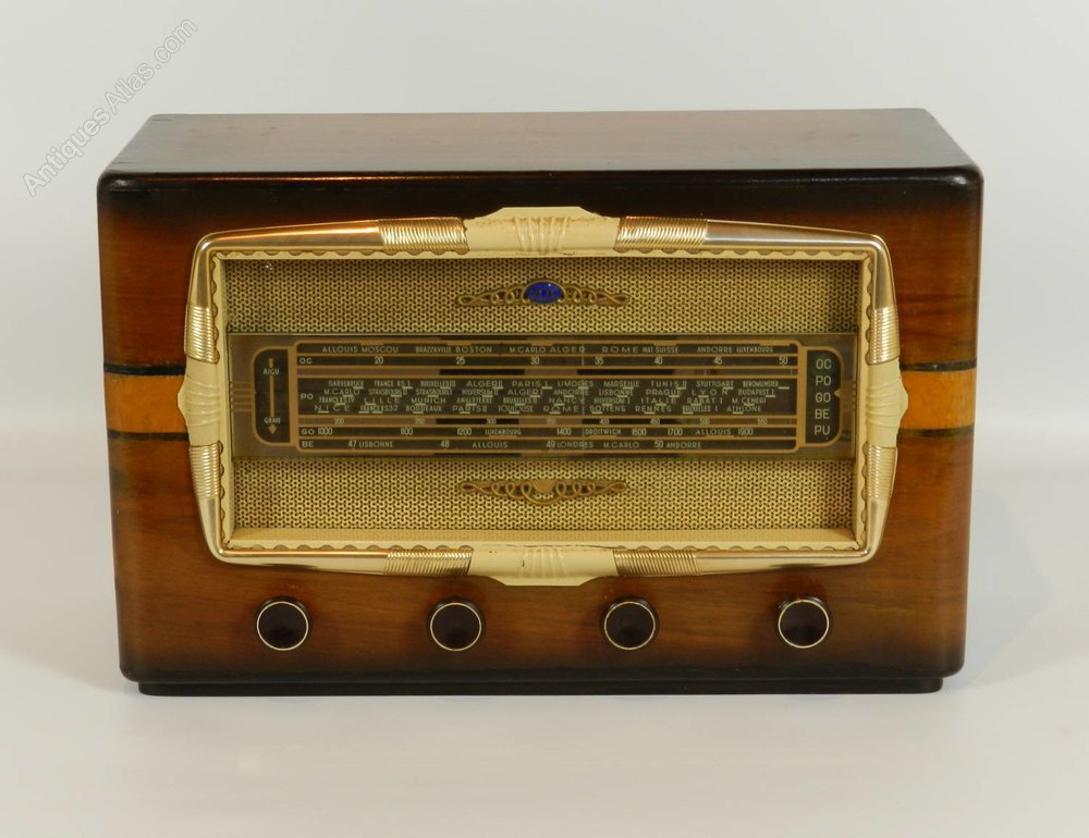 antiques atlas french valve nox radio. Black Bedroom Furniture Sets. Home Design Ideas