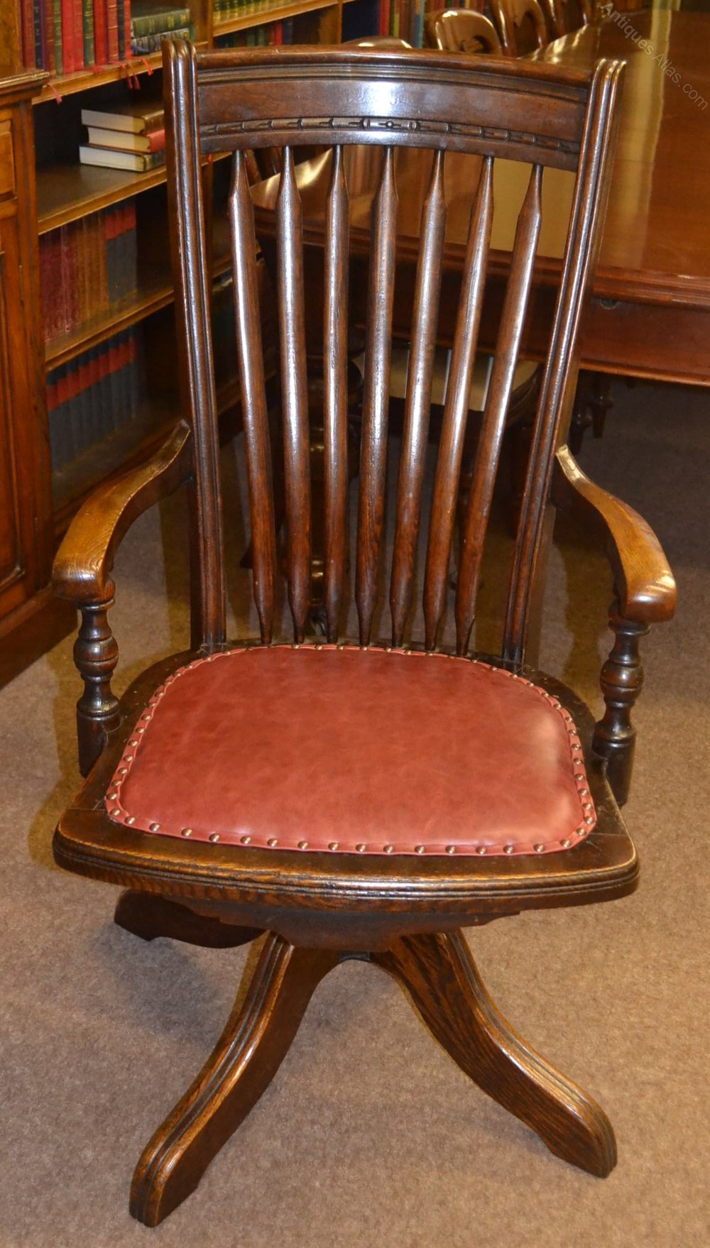 Oak Swivel Desk Chair C1900 Antiques Atlas