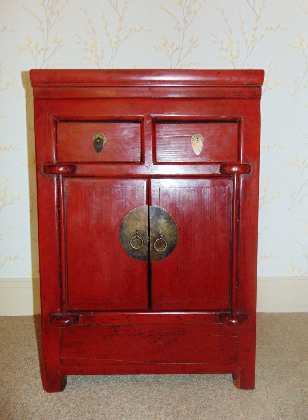 19th century chinese red lacquer cabinet antiques atlas