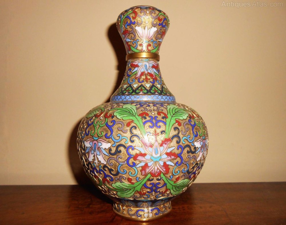 Antiques Atlas Beautiful Chinese Cloisonne Enamel Vase