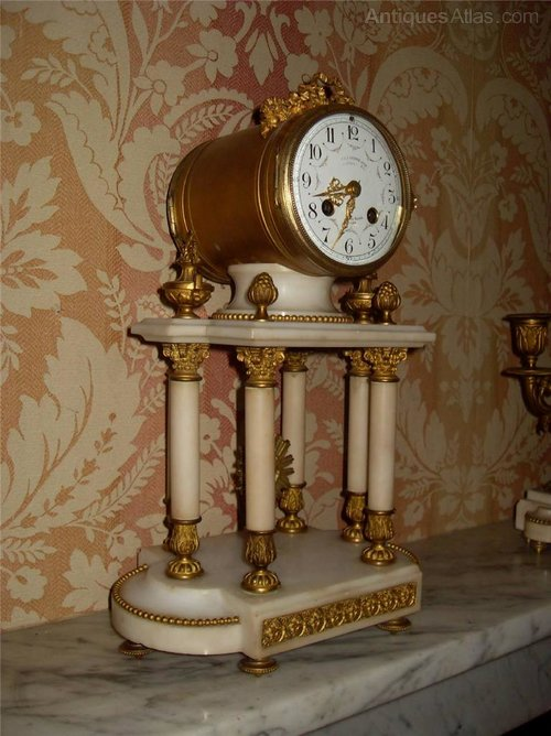 Antiques Atlas French Marble Amp Ormolu Portico Mantle Clock