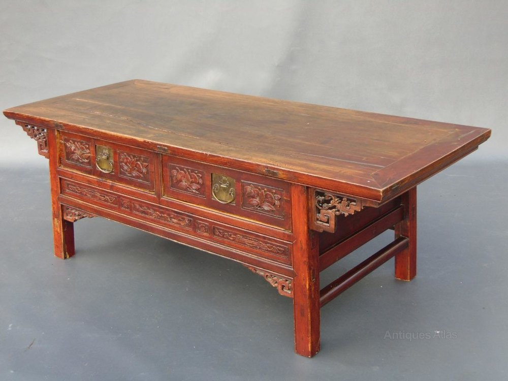 Large Chinese Lacquered Elm Low Table Coffee Tab Antiques Atlas