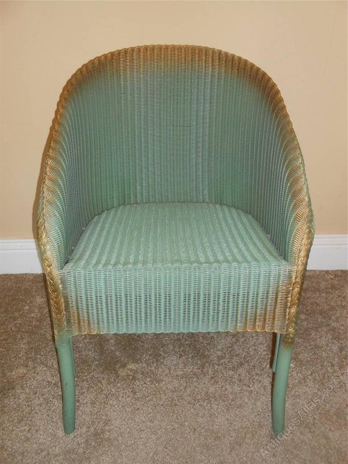 Lloyd loom chair original paint antiques atlas for H furniture loom chair