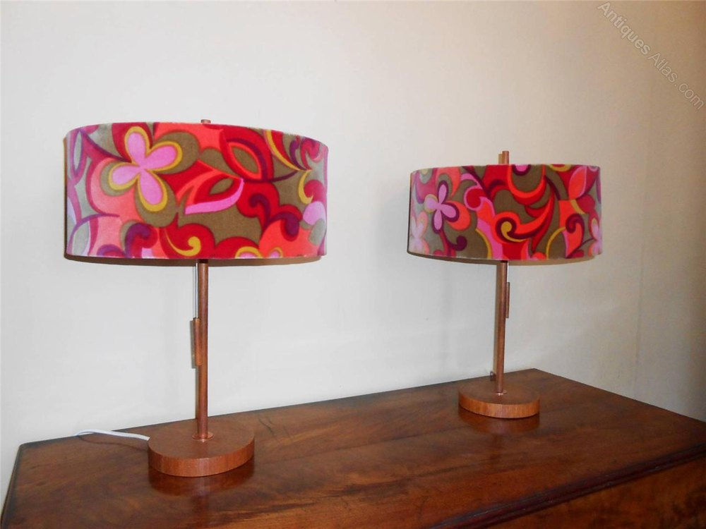Antiques Atlas - Pair Of Vintage 1960's Table Lamps Fritz ...