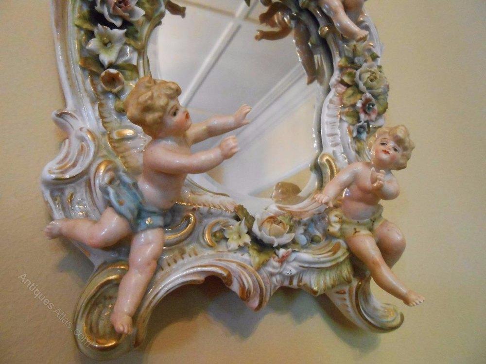 Antiques Atlas Pretty Victorian Porcelain Dresden Cherub