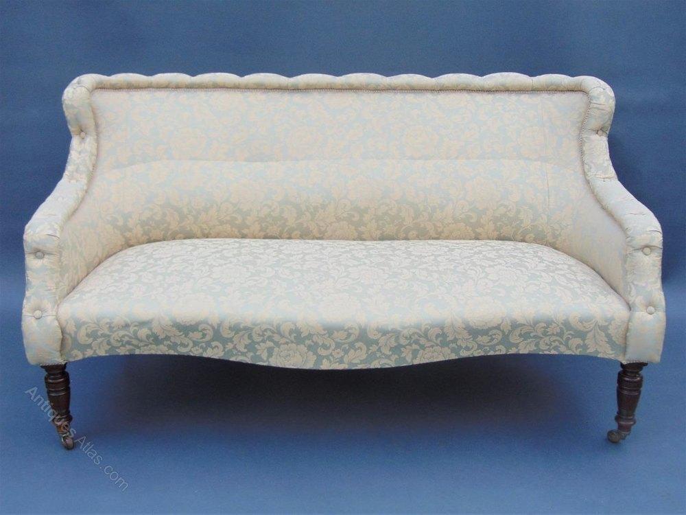 Victorian Mahogany Frame Three Piece Suite Sofa Antiques