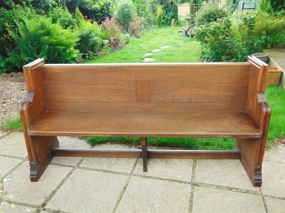 Victorian Oak Pew Bench Hall Seat Antiques Atlas