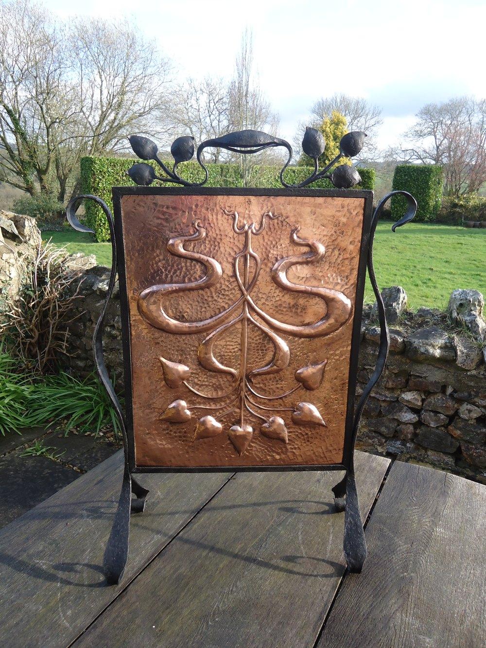 Antiques Atlas - Arts & Crafts Copper Fire Screen, Pool Of ...