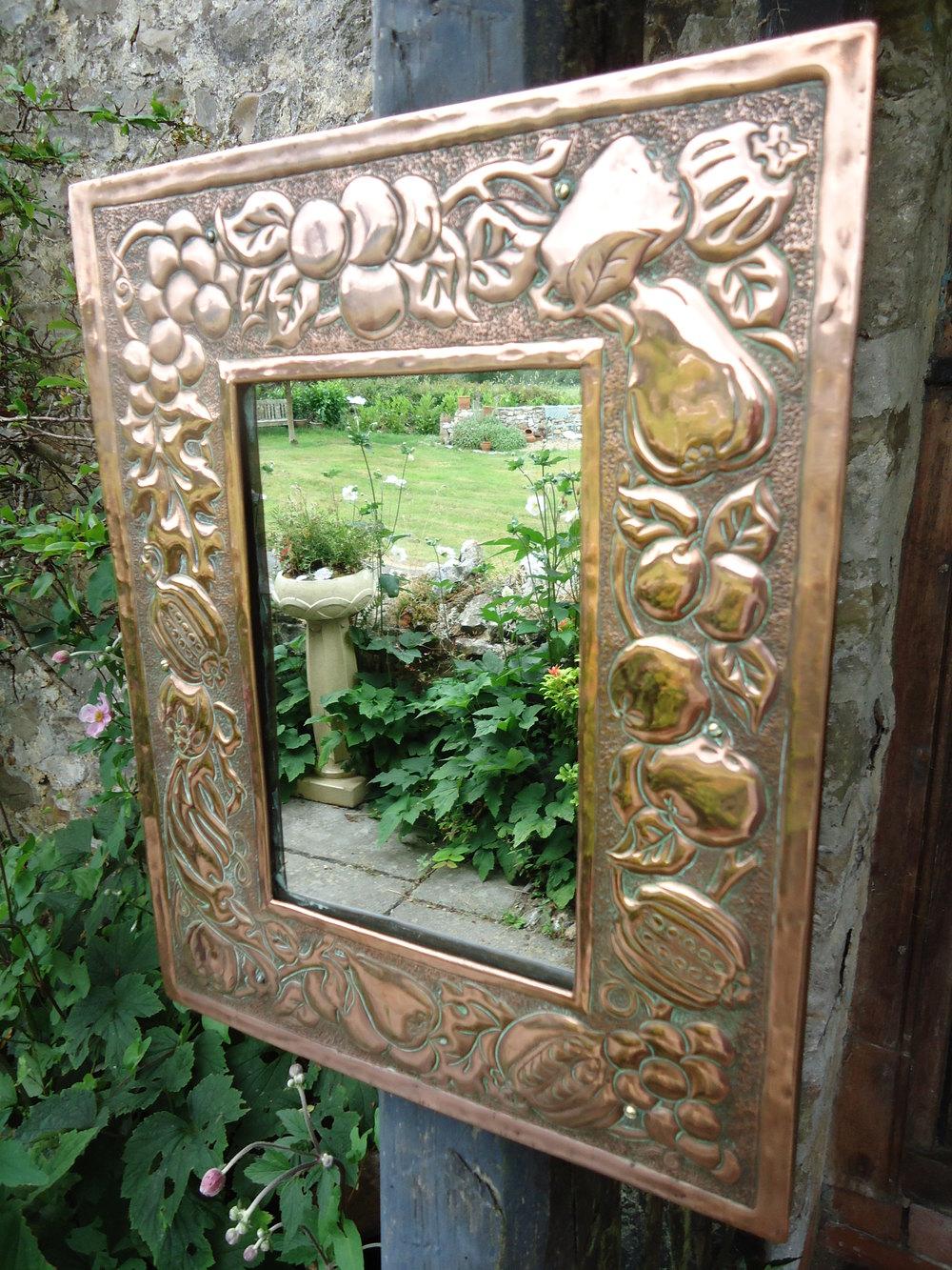 Antiques Atlas Arts Amp Crafts Copper Mirror Keswick
