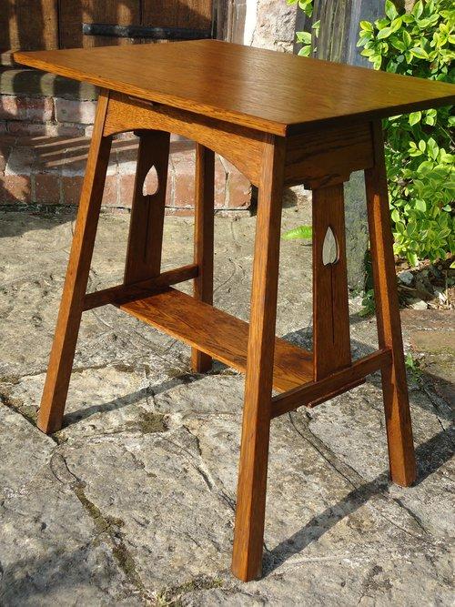 arts crafts liberty co side table antiques atlas. Black Bedroom Furniture Sets. Home Design Ideas