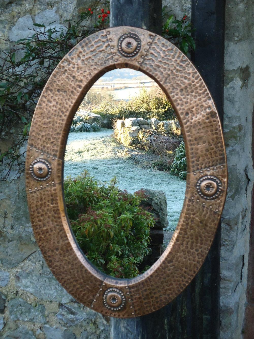 Antiques Atlas Arts Amp Crafts Oval Copper Mirror