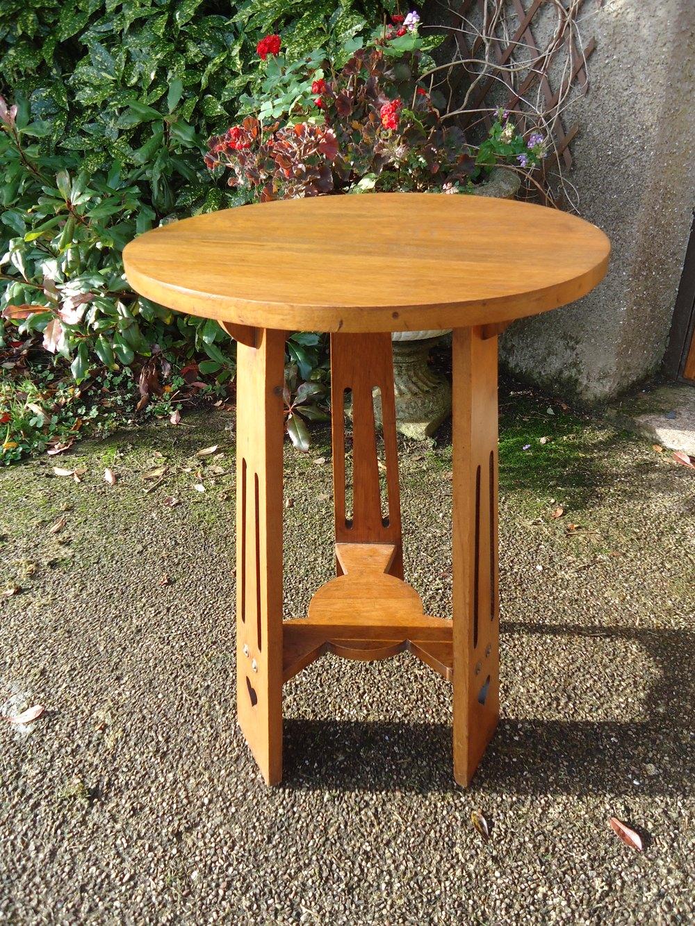 Oak Side Table: Arts & Crafts Oak Side Table