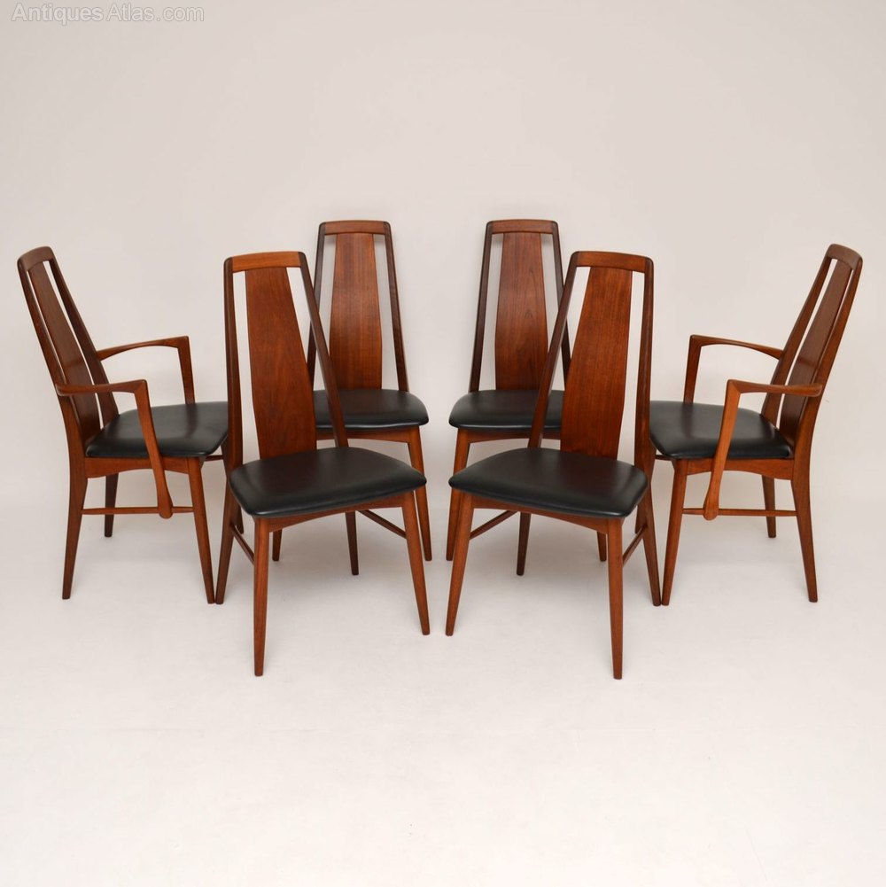 Antiques Atlas 6 Danish Teak Eva Dining Chairs By
